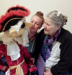 one-on-one photos puppetry pirate pam